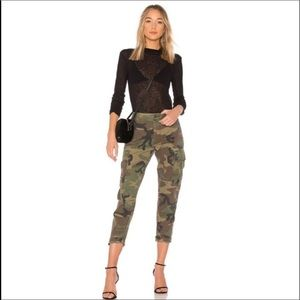 NWT Re/Done Camo High Waist Cargo Pants s26